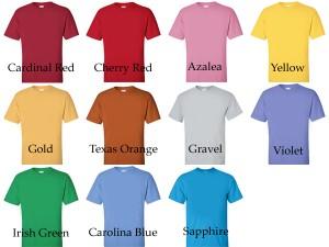 friday shirt colors